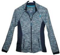 Tangerine Athletic Jacket S Gray Womens Color Block Black Stretch Zip Pockets