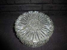 A VINTAGE 1970S GLASHUTTE  LIMBURG ICE GLASS CEILING LIGHT