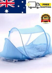 Foldable Baby Bed with Net and Pillows, Baby Rocker, Mesh Bed Sleep Playground