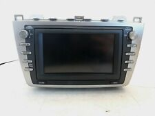 2009 Mazda 6 Stereo Radio 6 Disc CD Changer Info Display Screen & Navigation OEM