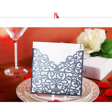 12PCS Black Laser Cut Wedding Party Invitation Card Custom Personalized Printing