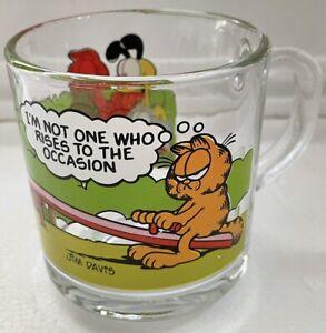 GARFIELD & Friends McDonalds USA VINTAGE Glass Coffee Mug 1978 COLLECTORS 'RARE'