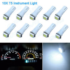 10Pcs White T5 74 37 73 257 5050 SMD Instrument Speedo Dash LED Light For GMC VL