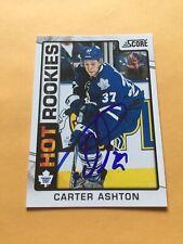 Carter Ashton Signed Toronto Maple Leafs Rookie Card 1