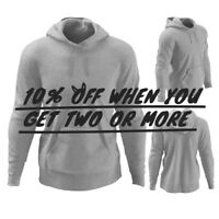 HI MEN WOMEN UNISEX PLAIN PULLOVER HOODIE CASUAL HOODED SWEATSHIRT ACTIVE JACKET