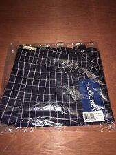 JOCKEY Men's Woven Boxer Underwear Window Pane Navy Large Lge L NEW