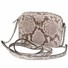 NWT MICHAEL KORS FULTON EMBOSSED LEATHER SMALL CROSSBODY BAG IN DARK SAND