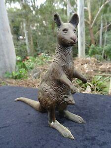 Antique Victorian Vintage Spelter Kangaroo Statue Figurine