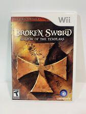 Broken Sword Shadow Of The Templars Game Nintendo Wii  - W/ Manual Free Shipping