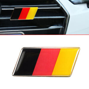 1x Front Grille Bumper German Flag Emblem Badge Sticker For Audi VW Golf Jetta P