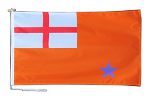 More details for northern ireland orange order ensign flag with rope and toggle - various sizes