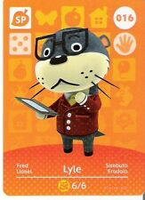 ANIMAL CROSSING amiibo KARTE: 016 - LYLE (FRED) (Special/Holokarte/mint)