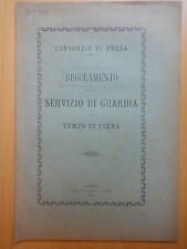 1898-REGOLAMENTO GUARDIA IN TEMPO DI PIENA-CONSORZIO VI PRESA-PADOVA-BONIFICA