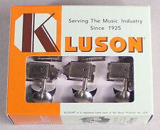 Kluson Deluxe Single Line Tuners Tuning Keys Fits Vintage Fender® Nickel