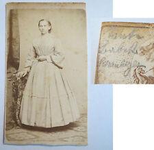 Regensburg - Babette Schauberger als Frau im Kleid - ca. 1860/70er Jahre/ CDV