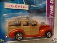 2008 Hot Wheels '40s WOODIE #118 ∞ orange; fin front surfboard ∞ Surf's Up
