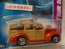 2008 Hot Wheels '40s WOODIE #118 ∞ orange; fin front surfboard ∞ Surf's Up