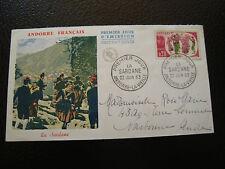 ANDORRE FRANCAIS enveloppe 1er jour 22/6/1963 (cy16) andorra