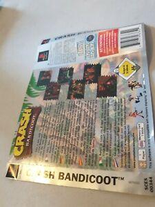 PlayStation Crash Bandicoot (PS1 Platinum) rear inlay only no game
