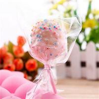 100pcs Clear Chocolate Lollipop Cello Bags Cellophane Party Favor 10x15cm KdCYC