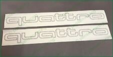 AUDI QUATTRO Side Skirt Grey High Cast Decals TT RS A4 A8 S4 S5 S6 S8 S-line WOW