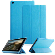 For Fire 7 (2019) Tablet Soft Leather Smart Cover Case w/Auto Sleep/Wake Blue