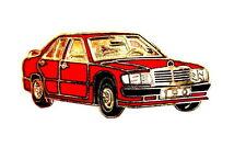 Auto pin/Pins-Mercedes Benz 190 e rojo, esmaltado [1321]