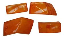 ukscooters VESPA SET OF 4 INDICATOR LENS AMBER REAR AND FRONT ORANGE