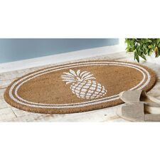 Mud Pie ML7 Welcome Home Garden Woven Coir Floor Pineapple Door Mat 4265345