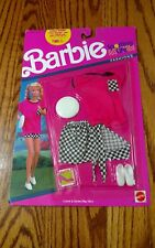 Vintage 1990 Barbie Sporting Life Fashions Checkers Outfit Set #777 Mattel