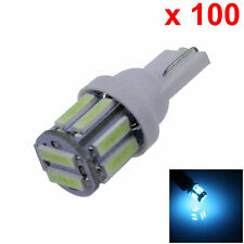 100x Ice Blue Car T10 W5W Roof Bulb License Plate Lamp 10 7020 SMD LED A065