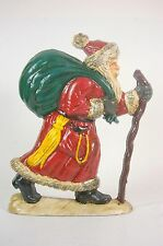 Cast Iron Door Stop Doorstop Old World Santa Claus Christmas Holiday