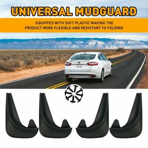 4X Black Splash Guards Car Mud Flaps for Auto Front Rear Tires Universal Fit USA