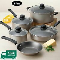 Cookware Set Of Pots And Pans Large Cooking 9 Piece Professional Non Stick