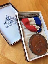 Antique 1927 Metropolitan Association AAU Championship Track Medal Original Box