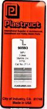 """Plastruct PLS 90593 ZFS-4 Styrene Zees 1/8 x 15"""" (8) pcs"""