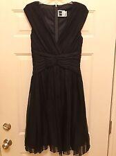 Tadashi Black Silk Dress  Size 10 Perfect Condition!