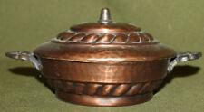 Vintage hand made copper lidded bowl