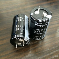 3pcs 330uF 400V Japan Nichicon GU 25x40mm 400V330uF Snap-in Capacitor