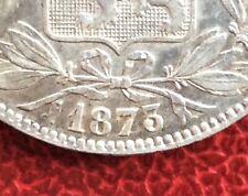 Belgique - Léopold II -Très Jolie Monnaie de 5 Francs 1873 - variété avec 3 Haut