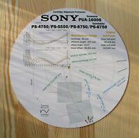 Sony PS-4750/5550/6750/8750 & PUA-1600S Tonearm Cartridge Alignment Protractor