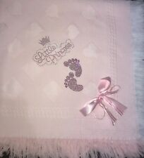💕Beautiful Pink Girls Shawls With Little Princess And Footprints 👣 !💕
