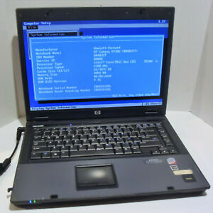 HP Compaq 6710b 15.4in. Notebook (Intel Core 2 Duo 2.1GHz 4GB NO HDD) AS IS