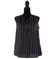 Tommy Hilfiger Women's Button-Down Stripe Sleeveless Blouse - $0 Free Ship