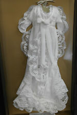 Franklin Mint Titanic Rose Doll White Lace Dressing Breakfast Gown Ensemble RARE