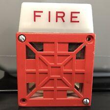 Wheelock 7002T-24 Vintage Fire Alarm Horn/Strobe - 24VDC - 0.82 Candela
