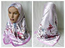 Pink Turkish Floral Fashion Scarf Abaya Square 35x35 Hjiab Springtime Scarf