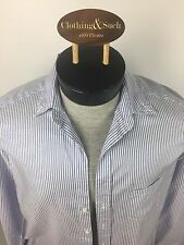 Frank & Eileen Womens Button Blouse XS Cotton Blue Stripe RN 117409 Style Eileen