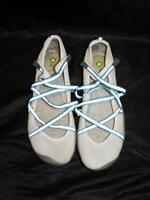 Jambu Size 9 White Blue Mary Jane Shoes Lace Up Straps Mesh Vegan Sandals Summer