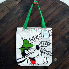 Goofy Canvas Tote Bag Disney Loungefly cream green onomatopoeia 14x16 rare Oop